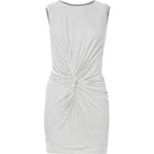 DVF - HEATHER GREY TWISTED FRONT DRESS, Size 2